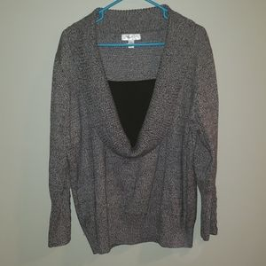 Black grey marble sweater